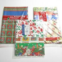 Vintage Cleo Christmas Gift Wrap Wrapping Paper LOT Total of 300 sq ft NEW packs