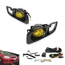 for 99-00 Honda Civic EK EM 2/3/4 Dr JDM Yellow Bumper Fog Lights + Switch Kit