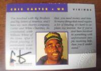 1992 PRO LINE Portraits CRIS CARTER AUTHENTIC ON CARD AUTOGRAPH SIGNATURE auto
