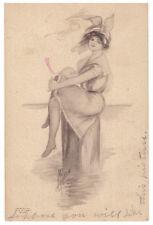 1910 Postcard. Artist Signed. M. Lambin. Chicago IL.