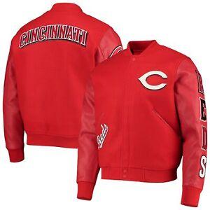 Cincinnati Reds Logo Full-Zip Varsity Jacket - Red