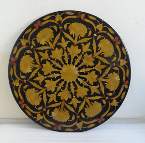 """48"""" Marble Center Table Top  Pietra dura Floral Inlay Handmade Work"""