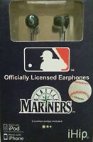 New Officially Licensed MLB SEATTLE MARINERS Earphones  2010-11