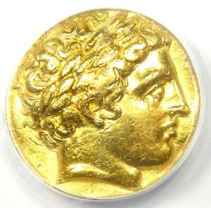 Ancient Greek Philip II AV Gold Stater Coin 359-336 BC - Certified ANACS VF35