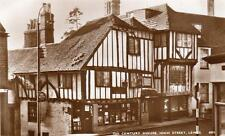 15th Century House High Street Lewes RP old pc used 1951 Norman