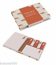WOODLAND FAUNA FOX FOXES MEMO PAD NOTES NOTEPAD PLAIN & LINED RETRO HOME GIFT