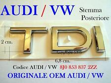 AUDI VW TDI 8J0853737 ORIGINALE OEM Posteriore Rear Stemma Badge Emblema Fregio