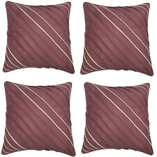 Pack of 4 Faux Suede Cushion Covers Berry 45x45cm