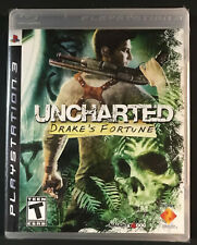 Uncharted: Drake's Fortune (Sony PlayStation 3, 2007) black label ps3