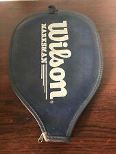Vintage Wilson Marksman Raquetball Raquet Cover