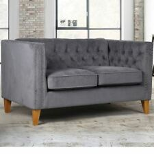 Florence Fabric Upholstered Sofa in Grey Medium Two Seater