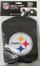 NFL NWT HEAD REST COVERS SET OF 2- PITTSBURGH STEELERS