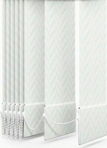 """Everest White Vertical Blind Slats Replacement 89mm(3.5"""") Wide - Made to Measure"""