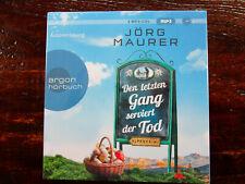 """Jörg Maurer """"Den letzten Gang serviert der Tod"""",2 mp3-CDs,neu,OVP,ohne Porto"""