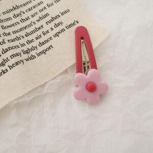 Womens Acrylic Flower Hair Clip Hairpin Barrette Snap Bobby Pin Hair Accessories