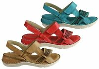 Brand New Orizonte Amose Womens European Leather Comfortable Cushioned Sandals