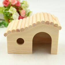 Pet House Wood Hamster Hideout Hut for Small Animals Dwarf  Mouse Exercise Toy