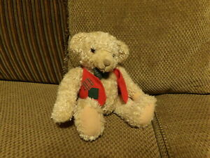 "RARE 9"" Adorable Hallmark TYLER Plush BEAR wearing Vest & Bowtie (*45)"