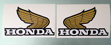 Classic Wings Logo Decals / Stickers for Hondas (Design #2) (Any Colour)