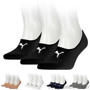 PUMA Sports Socks Footie Invisible Cotton Sneaker Trainer Sock (3 Pair Packs)