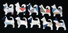 10 ANTIQUE CUTTER QUILT CHIHUAHUAS! DOGS! WOW! Scrapbooking! Applique!