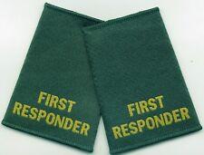 Tejido First responder Charretera Slider par Verde trabillas