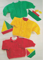 """Baby Cable Sweaters & Cardigan 18"""" - 28"""" ~  Chunky Knitting Pattern"""
