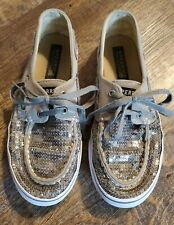 Girl's Sperry Shoes, Size 2, Pewter, EUC