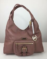 $348 MICHAEL KORS Austin Large Shoulder Tote Dusty Rose Leather Hobo Bag