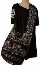 Bag Printed Bohemian Hippy Cross Body SLING Yam shopping travel ELEPHANT Black