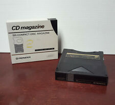 Pair of Pioneer Multi-Play Six-Compact-Disc Magazines