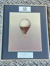 1981 Signed Photograph Fabric Double Eagle II 1st Transatlantic Hot Air Balloon