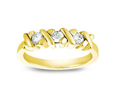 0.30ct Diamond Wedding Band Ring 10k Yellow Gold Round Cut Channel Set Gh I1