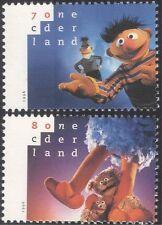 Netherlands 1996 Sesame Street/Puppets/Bears/Television/TV 2v set (n21401)
