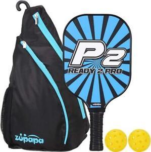 Zupapa Pickleball Paddle Set, 7.8 oz 1 Paddle 2 Balls Cushion Grip