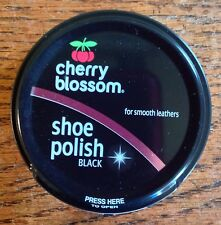 CHERRY BLOSSOM SHOE BOOT POLISH BLACK 50ML MADE IN ENGLAND