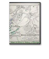 Atlas to Alison's History of Europe (Napoleonic Battle Plans) 1850 on CD - B207