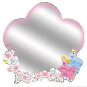 "MIRROR of DISNEY PRINCESSES  11""x10.75"" princess Cinderella Aurora wall sticker"