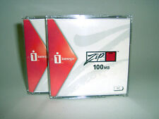 Two-Pack Iomega 100MB Zip Disks for PC-NEW-in Plastic Cases