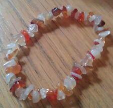 Carnéol & Moonstone Chip Bead Healing Crystal Bracelet