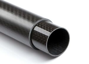CFK Rohr Ø60mm Länge 120mm 3K Carbon glänzend Kohlefaser  PrePreg Auspuff