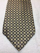 ARROW MENS TIE BLACK BROWN BEIGE WITH SILVER 3.75 X 61