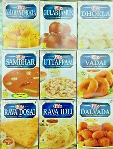 GITS INSTANT MIX INDIAN FOOD PAKORA VADA IDLI DOSA RABDI JALEBI SAMBER DHOKLA