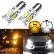 1157 Dual Color Switchback 3000K 6000K White / Amber LED Turn Signal Light Bulbs