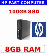 HP COMPUTER PC DUO CORE 8GB RAM ✔ 100GB SSD ✔ WIFI ✔VERY FAST & RELIABLE PC