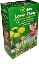 Vitax pelouse clair 2 weedkiller tue clovers pissenlits buttercups Daisy 250ml