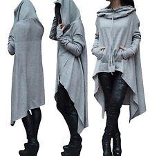 Maglia Lunga Autunno con Cappuccio Donna Woman Hoodie T-shirt 561031 P