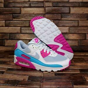 Nike Air Max 90 Grey Pink Blue Running Shoes CT1030 001 Women's Size 8.5 NIB