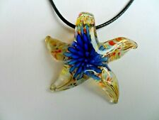 Lovely Filled Starfish  Lampwork Glass  Pendant  Necklace