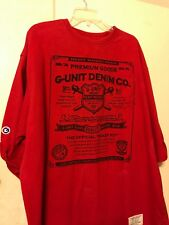 Men's G Unit Demin Co. Premium Goods short Sleeve Heavy Weight Tee Shirt-2XL Red